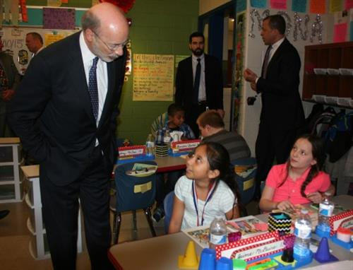 Governor Wolf visiting my classroom