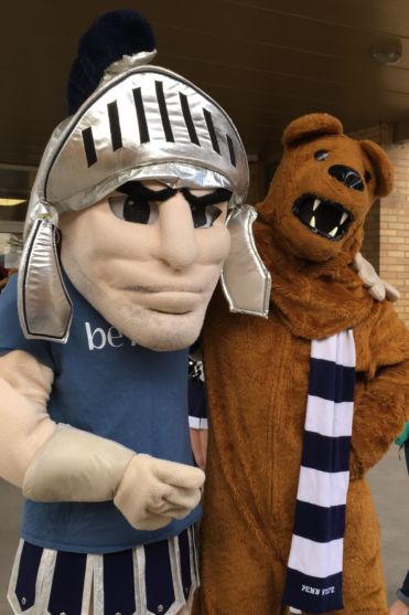 CASD Trojan & PSU Lion Join Forces To Welcome Students To School
