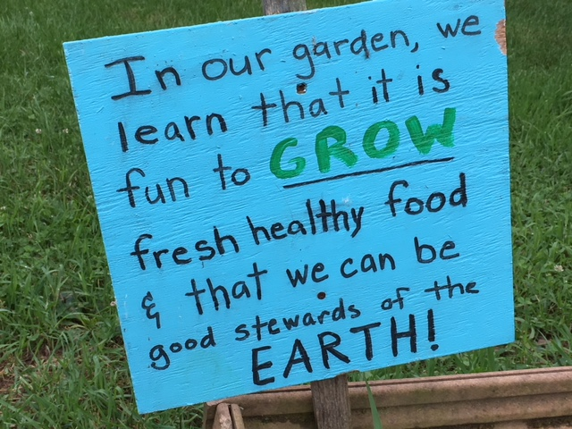 Growing good stewards of the Earth is important to our school