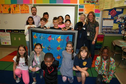 Ben Chambers Elementary School Quilt Featured in Fundraising Contest