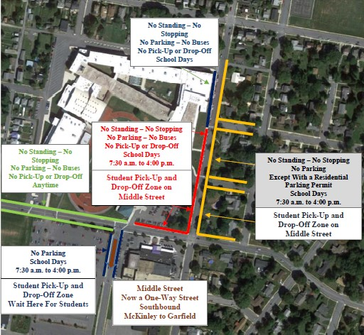 Chambersburg Adopts New Traffic Pattern For CASHS' New School Year