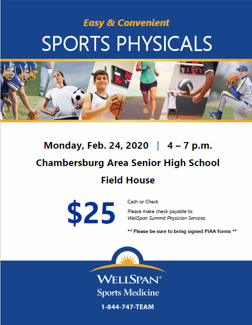 PIAA Physicals Available at CASHS February 24th